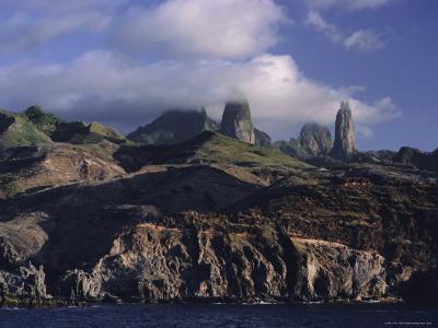 Rocks, Puamau Bay, Ua Pou Island, Marquesas Islands Archipelago, French Polynesia-J P De Manne-Photographic Print