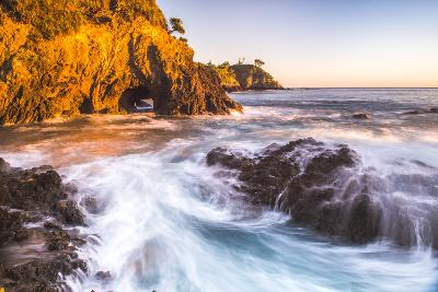 Rocky Bay at Sunrise, Tapeka Point, Russell, Bay of Islands, Northland Region-Matthew Williams-Ellis-Photographic Print