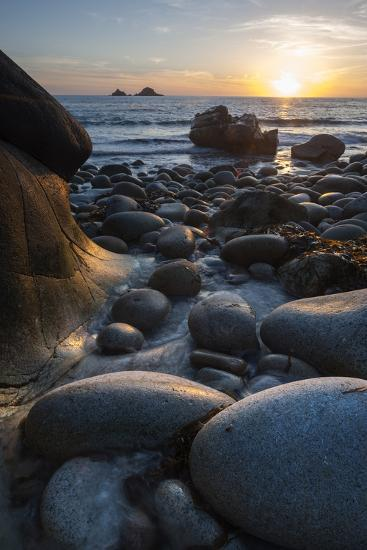 Rocky Beach at Porth Naven, Land's End,Cornwall, England-Paul Harris-Photographic Print