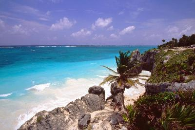 Rocky Beach Mayan Riviera Tulum Mexico-George Oze-Photographic Print