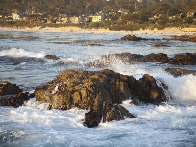 Rocky Coast Along Ocean Drive in Carmel, California, United States of America, North America-Donald Nausbaum-Photographic Print