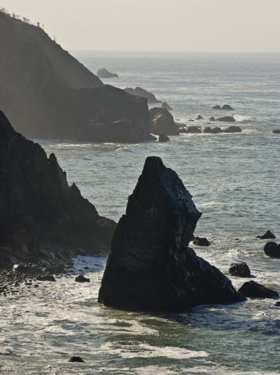Rocky Coast Along Route 1 in Big Sur, California-Michael Melford-Photographic Print