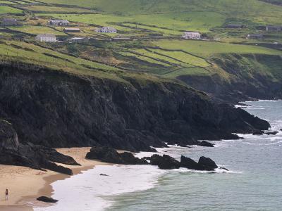 Rocky Coast and Beach, Slea Head, Dingle Peninsula, County Kerry, Munster, Republic of Ireland-Patrick Dieudonne-Photographic Print