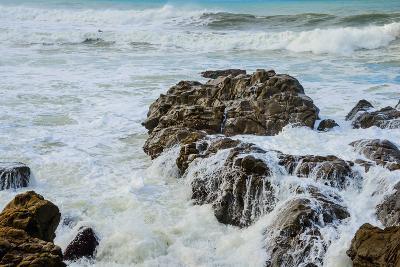 Rocky Coast Ocean Surf Waves-dplett-Photographic Print