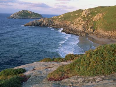 Rocky Coastline and Beach Near Punt De Moras on the North Coast, Rias Altas in Galicia, Spain-Maxwell Duncan-Photographic Print