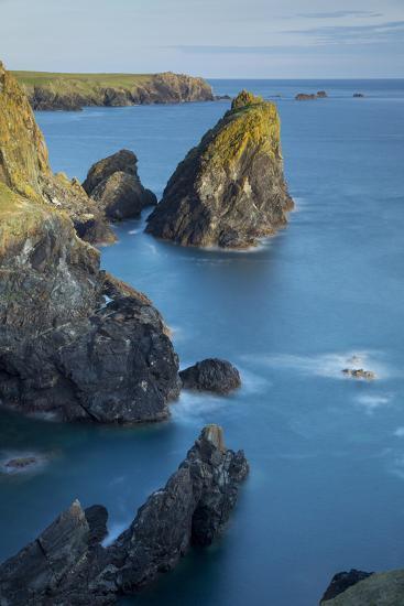 Rocky Coastline Near Lizard, Cornwall, England-Brian Jannsen-Photographic Print