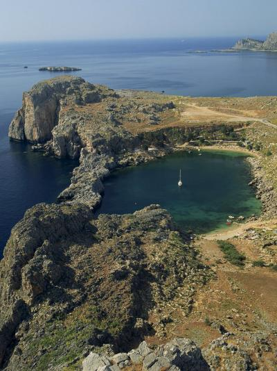 Rocky Coastline of St. Paul's Bay, Near Lindos, Rhodes, Dodecanese Islands, Greek Islands, Greece-Fraser Hall-Photographic Print