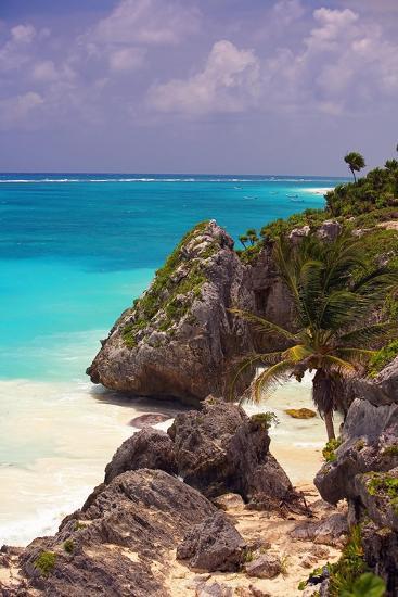 Rocky Cove, Tulum Beach, Yucatan, Mexico-George Oze-Photographic Print