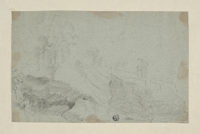 Rocky Landscape with Standing Figure-Richard Wilson-Giclee Print