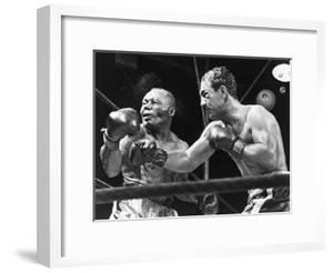 Rocky Marciano Landing a Punch on Jersey Joe Walcott, Sept. 23, 1952