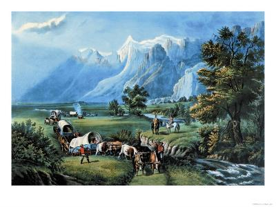 Rocky Mountains-Currier & Ives-Art Print