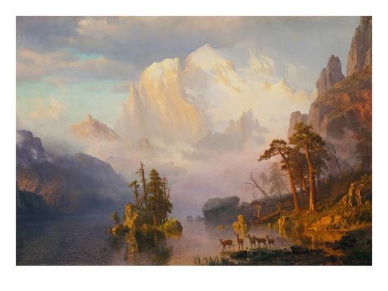 Rocky Mountains-Albert Bierstadt-Giclee Print