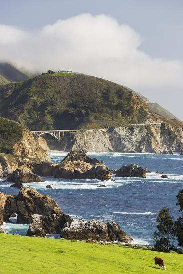 Rocky Point, Big Sur, Cabrillo Highway 1, California, Usa-Rainer Mirau-Photographic Print