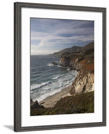 Rocky Shoreline South of Carmel, California, United States of America, North America-Donald Nausbaum-Framed Photographic Print