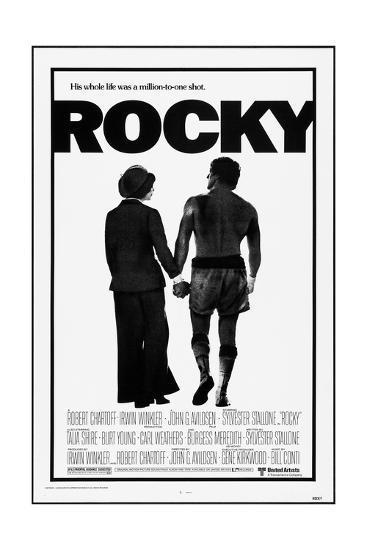 Rocky, Talia Shire, Sylvester Stallone, 1976--Art Print