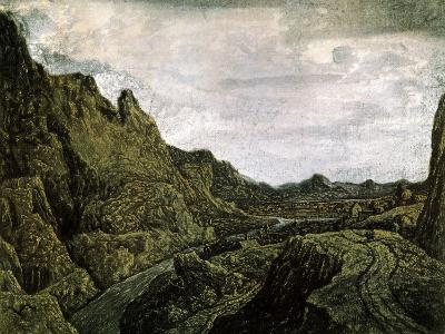 Rocky Valley with a Road, 17th Century-Hercules Seghers-Giclee Print