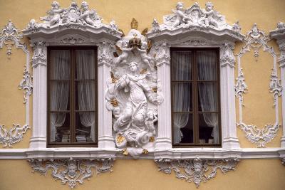 Rococo Decoration of Facade of Falkenhaus, 1751, Wuerzburg, Bavaria, Germany--Giclee Print