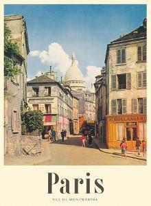 Paris, France - View of Montmartre - Basilica of the Sacred Heart (Sacre-Cœur) by Rod Rieder