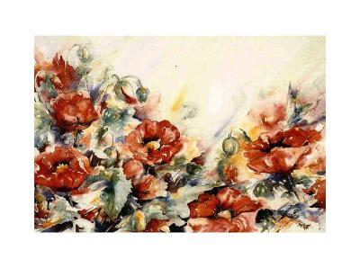 Rode Papaver-Hanneke Floor-Art Print