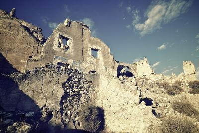 Roden Village Destroyed in a Bombing during the Spanish Civil War, Saragossa, Aragon, Spain-pedrosala-Photographic Print
