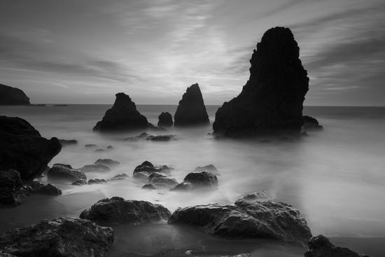 Rodeo Beach I, Black and White-Moises Levy-Photographic Print