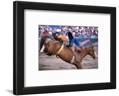 Rodeo in Valleyfield, Quebec, Canada--Framed Art Print