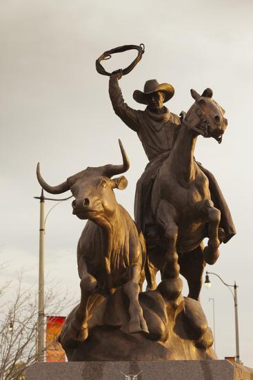 Rodeo Sculpture, Oklahoma City, Oklahoma, USA-Walter Bibikow-Photographic Print