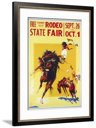 Rodeo State Fair Roan, Two Cowgirls--Framed Giclee Print