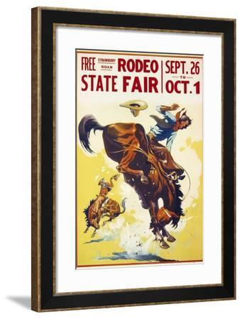 Rodeo State Fair Roan--Framed Giclee Print