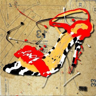 Zebra Heel Red