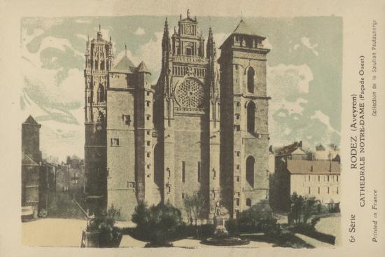 Rodez, Aveyron, Cathedrale Notre-Dame--Giclee Print