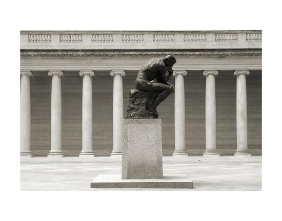 Rodin's Thinker in Profile-Christian Peacock-Art Print