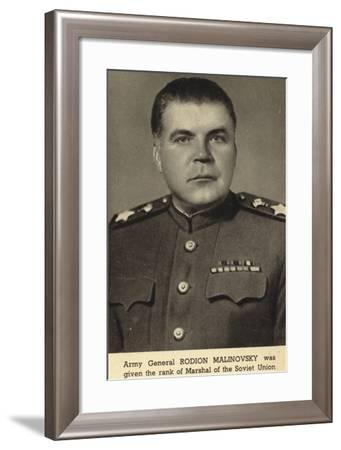 Rodion Malinovsky, Soviet General--Framed Photographic Print