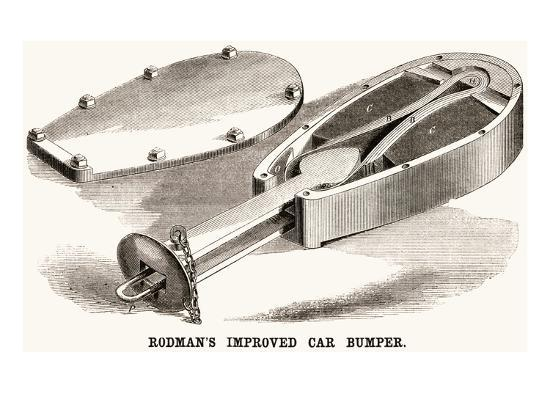 Rodman's Improved Car Bumper--Art Print