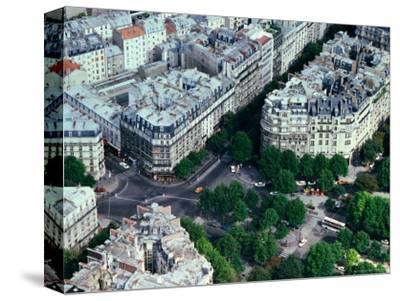 Overhead of Streets and Buildings from the Eiffel Tower, Paris, France