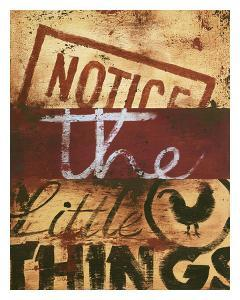 Notice The Little Things by Rodney White