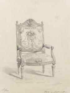 Monographie du palais de Fontainebleau : Fauteuil tapisserie by Rodolphe Pfnor