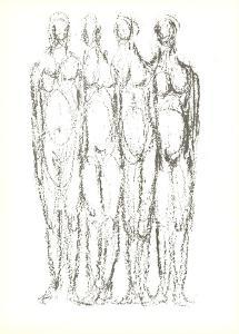Quatre Personnages by Rodolphe Raoul Ubac