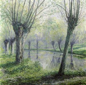 Spring Willows on the Riverbank by Rodolphe Wytsman