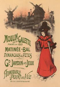 Moulin de La Galette, c.1896 by Roedel