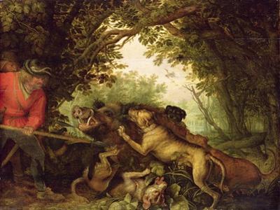 Boar Hunt, 1611 by Roelandt Jacobsz. Savery