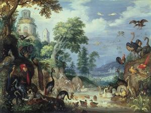 Landscape with Birds, 1628 by Roelandt Jacobsz. Savery