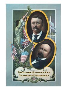 For President, Theodore Roosevelt, for Vice President, Charles W. Fairbanks by Roesch Lithograph Co