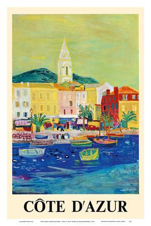 Côte d'Azur (French Riviera) - Port of Saint Tropez - SNCF (French National Railway Company)