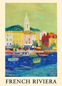 French Riviera - Port of Saint Tropez - French National Railway Company by Roger Bezombes