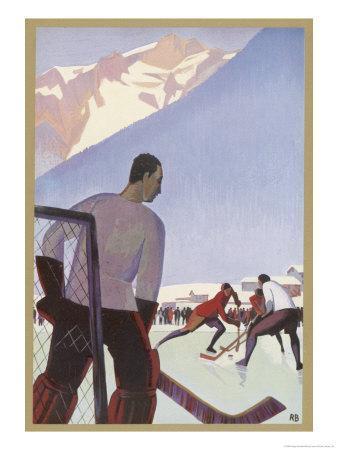An Ice-Hockey Match in Chamonix France
