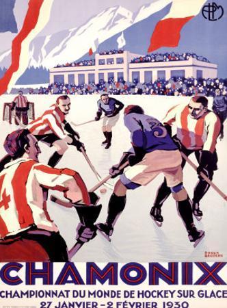 Chamonix, Hockey by Roger Broders