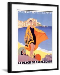 La Plage de Calvi by Roger Broders