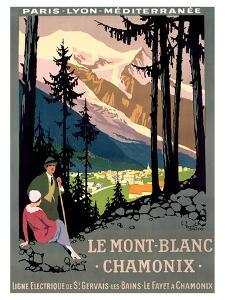 Mont Blanc, Chamonix by Roger Broders