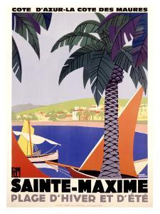Sainte-Maxime by Roger Broders